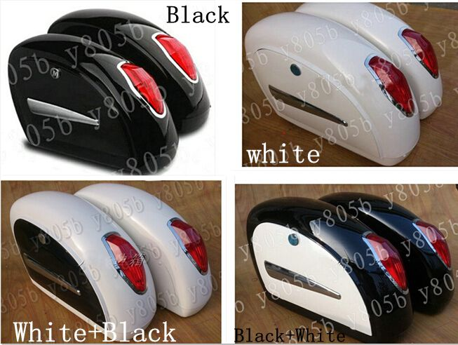 Motorcycle Leather Front Driver Seat Cushion Seat Set For