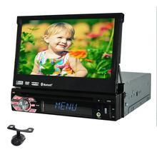 Бесплатная Камера с бесплатным 8 г GPS карта Автомобильный GPS dvd-плеер 1DIN универсальный GPS Видео Мультимедиа Bluetooth 7 дюймов Авторадио 1Din Автомобильный GPS