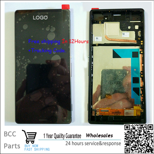 ФОТО A+++quality 100% new White Black For Sony Xperia Z3 LCD display+Touch screen Panel Digitizer with frame,in stock!