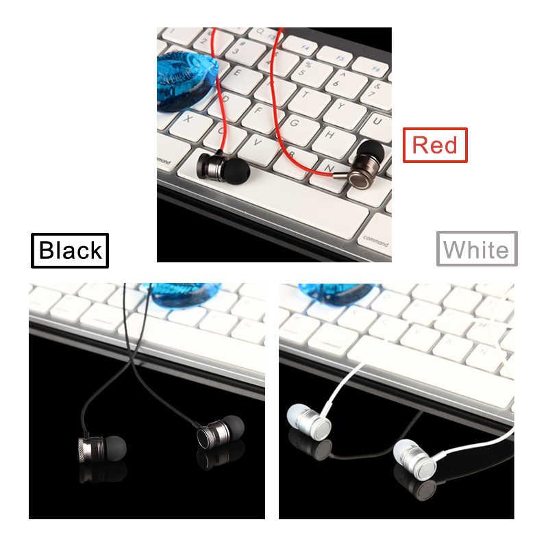 3.5mm jack metalowe słuchawki Super Bass sportowe słuchawki stereo zestaw głośnomówiący gry słuchawki z mikrofonem do telefonu komórkowego MP3 odtwarzacz muzyczny