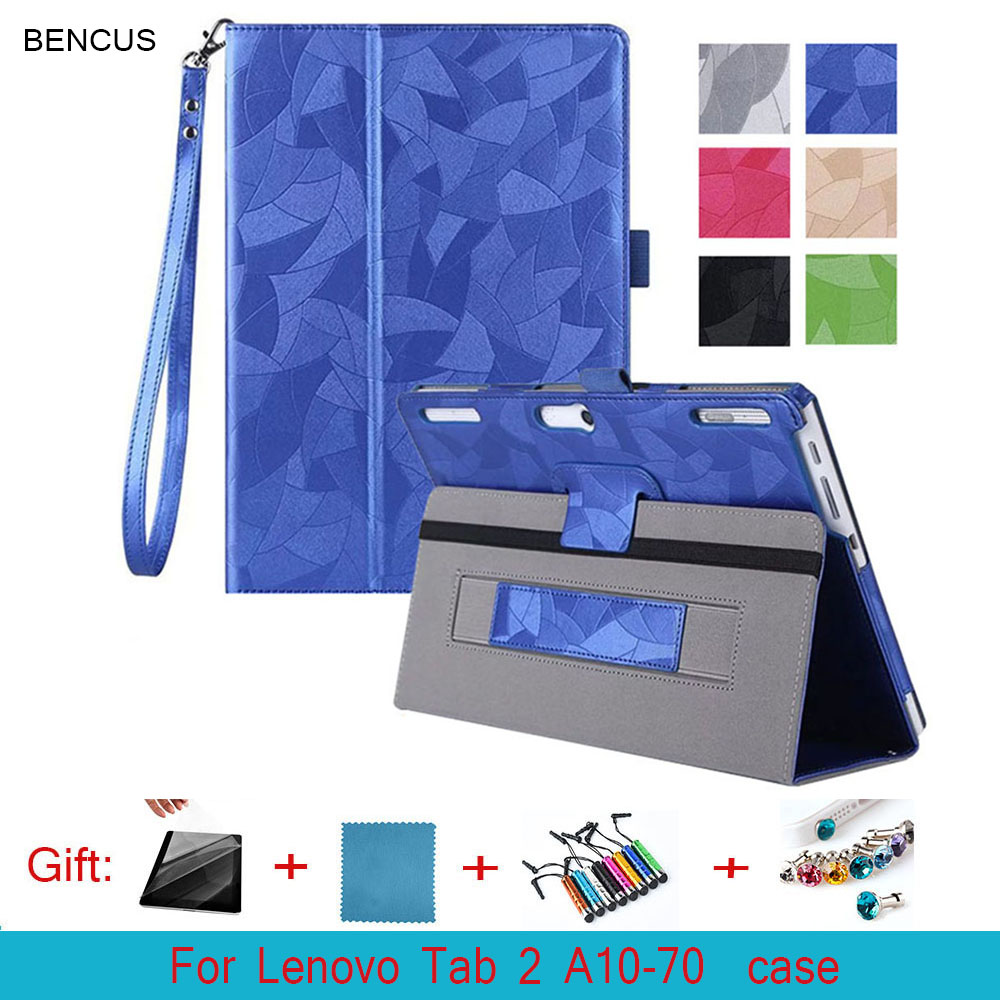 BENCUS Case for Lenovo Tab 2 A10-30F X30F 10.1 inch, Leather Flip Skins With Hand Strap Tablet Cover For Lenovo Tab 2 A10-70F