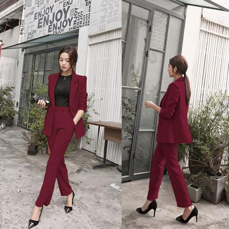 2 piece set women Suit female 2019 spring and summer Ms. new Slim fashion elegant small suit jacket + casual temperament sets