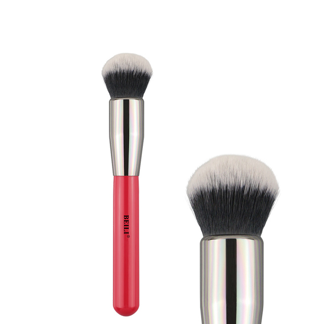 BEILI Fundación pincel de maquillaje profesional 1 piezas polvo de fibra de lana de pelo sintético corrector Contorno de 110/102/122/ 125/127/90