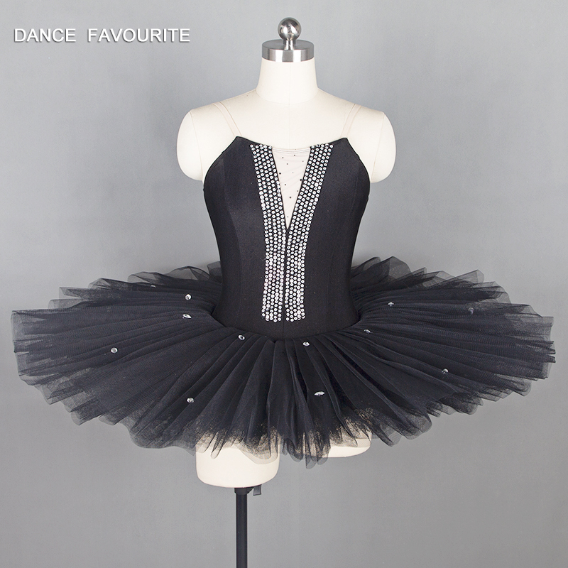 Black color ballet leotard 7 layers adult women dance costume ballet tutu ballerina performance ballet costume dance tutu
