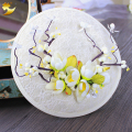2016 Retail Wedding Holiday Fascinator Cocktail Hat For Women French Hair Headband Vintage Fashion Lady Party Accessory 68013