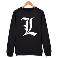 Japanese Cartoon Comic Death Note Skateboard Streetwear Brand Full Sleeve Hoodies Shirts Casual Hoody Sweatshirt O