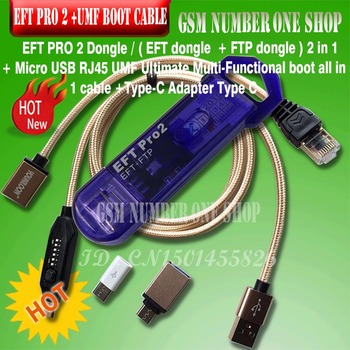 2019 original new eft pro 2 dongle ( and ftp in 1 this key ) + umf boot all cable