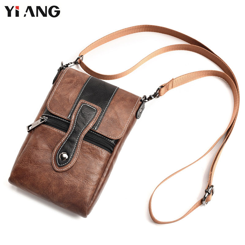 6.3 inch Universal Waist Bags Fashion Men Casual Leather Shoulder Pocket PU Pouch Crossbody Bags Male Mobile Phone Bag все цены