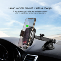 Baseus Car wireless charging mobile phone holder for iPhone X Samsung S10 S9 S8 QI wireless charger paste phone holder