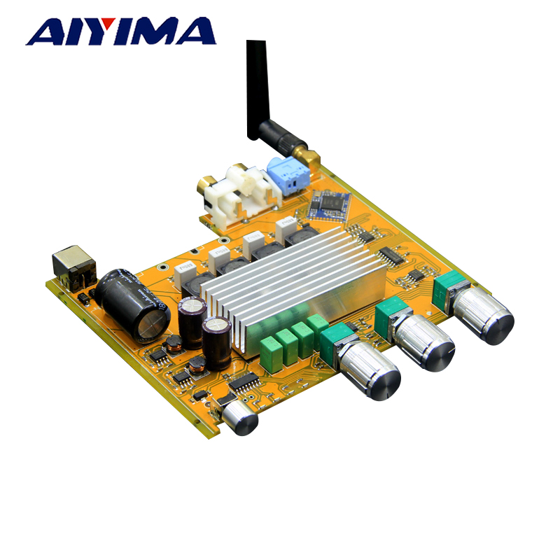 AIYIMA Amplifiers Audio TPA3116 2.0 Amplificador High Power HIFI Digital Amplifier Board Bluetooth V4.0 CSR8635 Bluetooth Chip aiyima tpa3116 4 1 bluetooth amplifiers audio board digital class d amplifier 4 50w 100w amplificador audio 24v car subwoofer