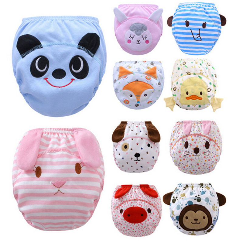 Hot Selling Cotton Baby Reusable Diapers Washable Cloth Diaper Cover Children Baby Nappi ...