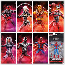 "Marvel Legends Six Arm Spider Man Symbiote Black Cat Silver Sable Night Thrasher Puma Goblin 6"" Action Figure From Kingpin BAF(China)"
