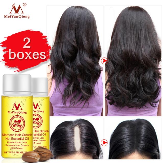 Mei Yan Qiong 2 Pzas de Aceite Esencial para el Crecimiento y Perdida del Cabello Reparador Quita Caspa 20 ml