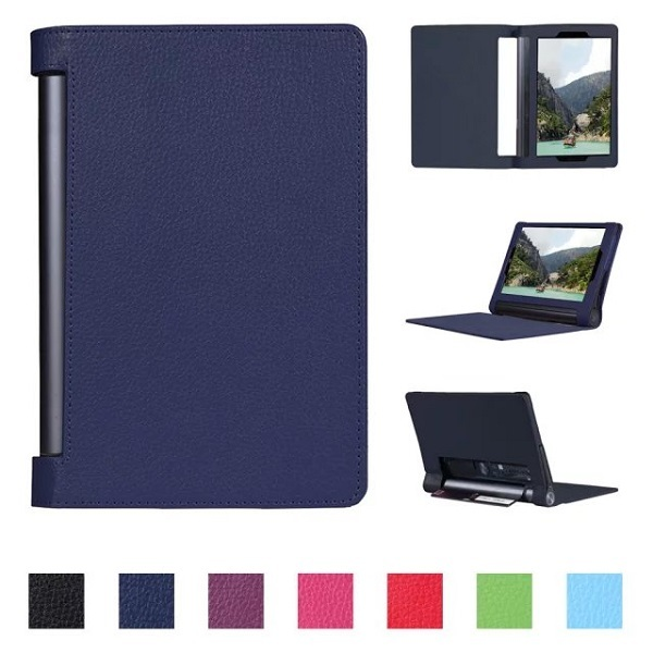 """Classic stand style PU lichi cover leather case folio case for 2015 lenovo yoga tab 3 10"""" pro tablet +free film+free stylus"""