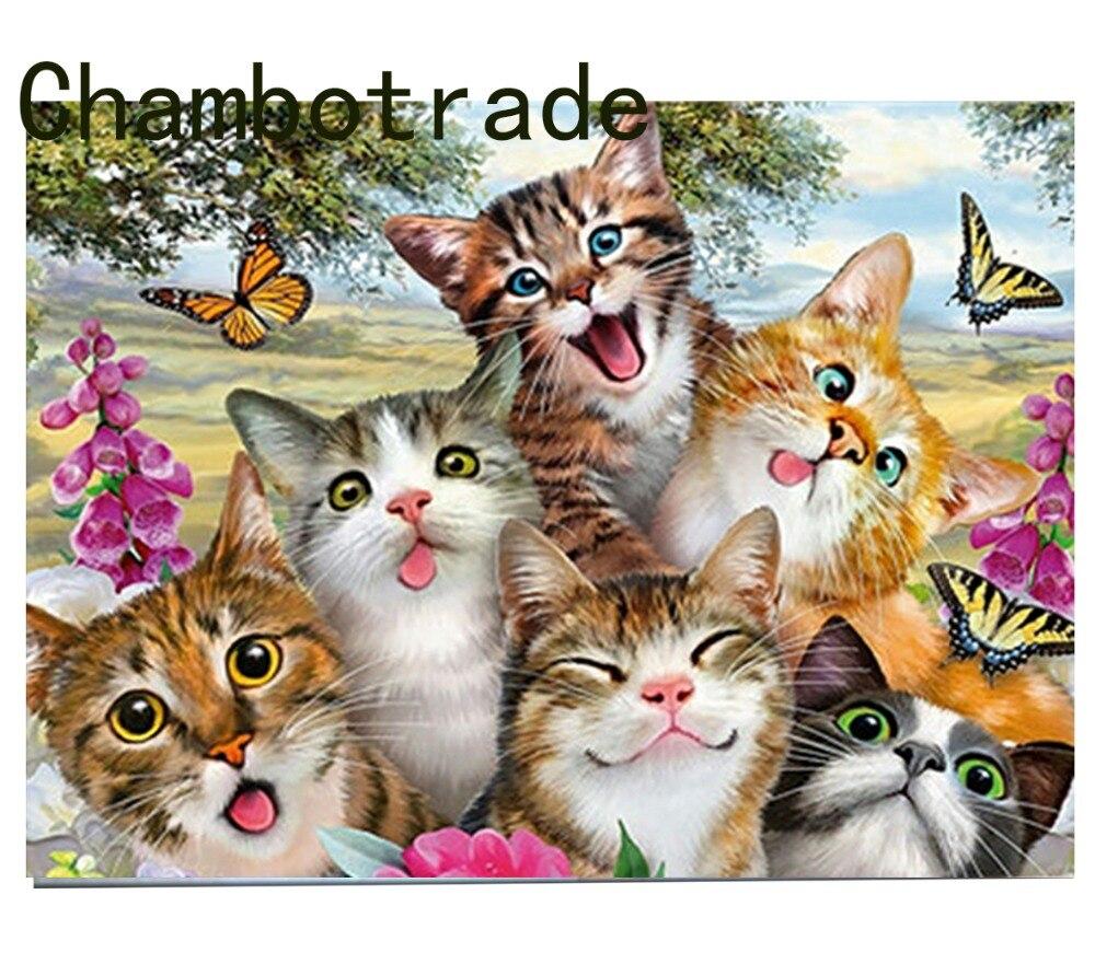 DIY Dengan Angka Kucing Kupu Kupu Mewarnai Rumah Dekoratif