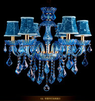 Прозрачное стекло хрустальная люстра синий красный цвет люстра и подвеской огни арт декоративная хрустальная люстра для гостиной спальни