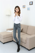 New Fashion Jeans Women's Sexy Slim Skinny Pencil Pants Robins Jeans High Waist Lady Trousers Elastic Pants #BJ9858