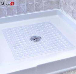 Máquina lavável da sução dos copos do chuveiro do quadrado do deslizamento do tapete da esteira do banho do anti-deslizamento da esteira do chuveiro do dreno rápido para o banheiro