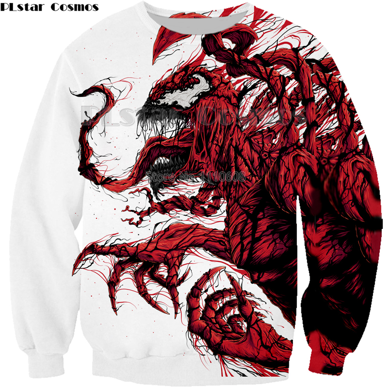 NEW Movie Spiderman red Venom Villain Skull Tees 3D Print Hoodie/Sweatshirt Unisex Good Quality plus size coat