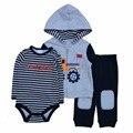Fashion Style Baby Boy Clothing Set 3pcs Suits Coat Bodysuit Pants Cotton Long Sleeve Winter Newborn Baby Boys Clothes