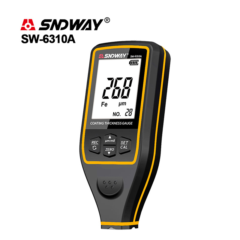 SNDWAY Thickness Gauges Paint Thickness Gauge Digital Film Coating Car Coating Thickness Gauge Tester Backlight Thickness Gauges