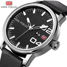 купить MINIFOCUS Fashion Men Watches Leather Strap Men's Wristwatch Quartz Watch Waterproof Montre Homme Male Clock Relogio Masculino по цене 1042.6 рублей