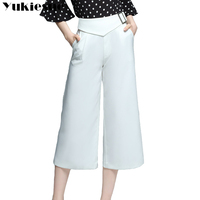 Wide Leg Pants Women 2017 Summer White High Waist Pants Female Trousers Loose OL Office Work