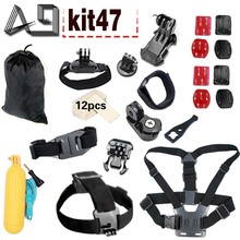 A9 For Gopro Equipment Set For Gopro 5 four three EKEN H9R F60R W9R Xiaomi Yi 4K SJ4000 Motion Cam with Head Strap Floating Stick