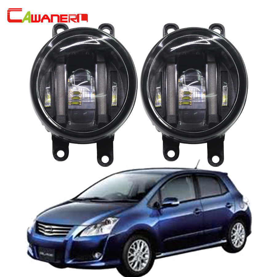 Cawanerl 2 X Car Styling DRL Daytime Running Lamp LED Left + Right Fog Light 12V White For Toyota Blade ALTIS IST cawanerl for toyota highlander 2008 2012 car styling left right fog light led drl daytime running lamp white 12v 2 pieces