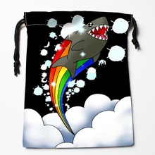 Custom shark Drawstring Bags Custom Printed gift bags More Size 27x35cm Compression Type Bags