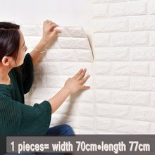 Colomac PVC 3D foam embossed brick thickened modern wall sticker self-adhesive bedroom living room waterproof wallpaper(China)
