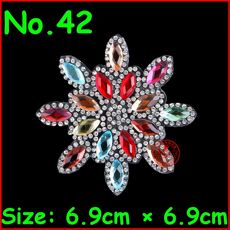 Detail Feedback Questions about 1 Pcs flower patche hotfix rhinestones  crystal motif rhinestone patch applique diy women clothes patch wedding  dress ... 24fdf00a8291