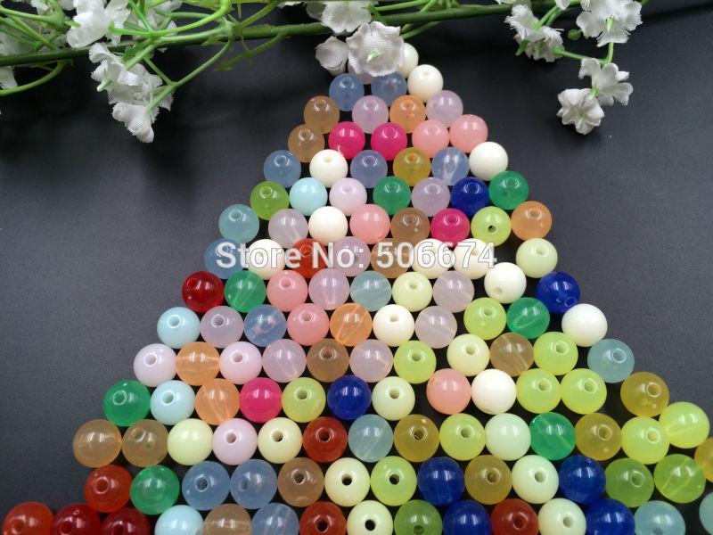 8 мм 100 шт. акрил DIY бусы ярких цветов свободные бусины для принятия ожерелье браслет DIY, для малыша X. рождество подарок