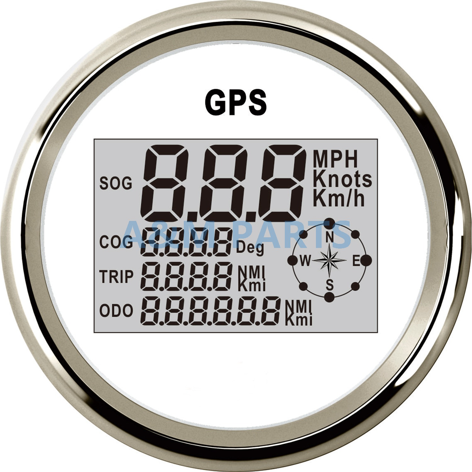 Boat Marine Truck GPS Speedometer Gauge Digital LCD Odometer W/ GPS Speed Antenna Sensor 12V 24V 85mm universal 85mm car gps speedometer digital lcd speed gauge knots compass with gps antenna for boats motorcycle