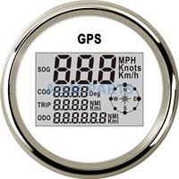 Boat Marine Truck GPS Speedometer Gauge Digital LCD Odometer W/ GPS Speed Antenna Sensor 12V 24V 85mm