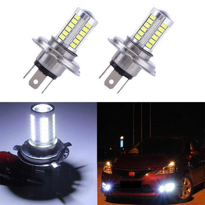 2pcs H4 33 SMD 5630 Car Led Fog Lamps 33SMD Auto Rear Reverse BulbsDaytime Running Light Turn signal White yellow Blue