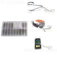 900 stks Rvs Bril Sunglass Klok Horloge Spectacles Telefoon Set Kit Zilver Schroeven Noten Schroevendraaier Reparatie Tool schroef