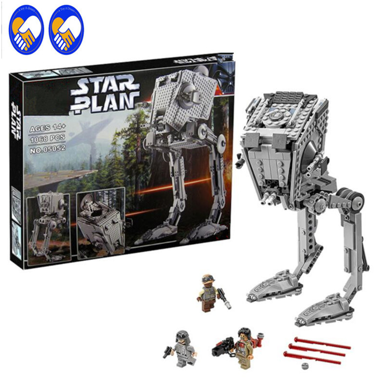A Toy A Dream Lepin 05052 Star War Series 1068pcs Out of print empire AT ST Building Blocks Bricks Model Toys Boys Gifts 75153 a toy a dream lepin 24027 city series 3 in 1 building series american style house villa building blocks 4956 brick toys