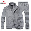 REY SportsSuit ZORRO Nueva Chaqueta Caliente del Invierno de Los Hombres Hoodies Outwear Hombres de Marca Sudaderas de Chándal de Los Hombres de la capa + pant