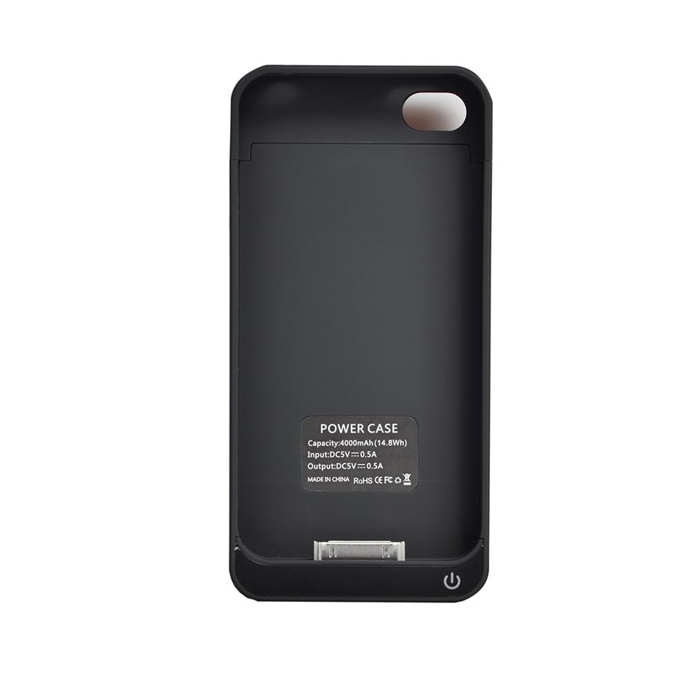 imágenes para Eyoube Para iPhone4s 4000 mAh Recargable Batería Externa Cubierta del Cargador de Reserva de la Energía Bank Funda para Apple iPhone4 4S