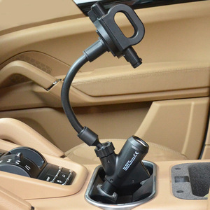 Image 5 - Besegad Flexible Cigarette Lighter Car Phone Charger Holder Cradle Mount w/Dual USB Charging Port for iPhone 7 6 Plus Tablet GPS