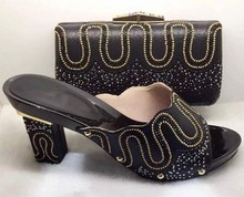 2017 Italian Matching Shoe And Bags Set With Rhinestones High Quality African Wedding Shoes And Bag