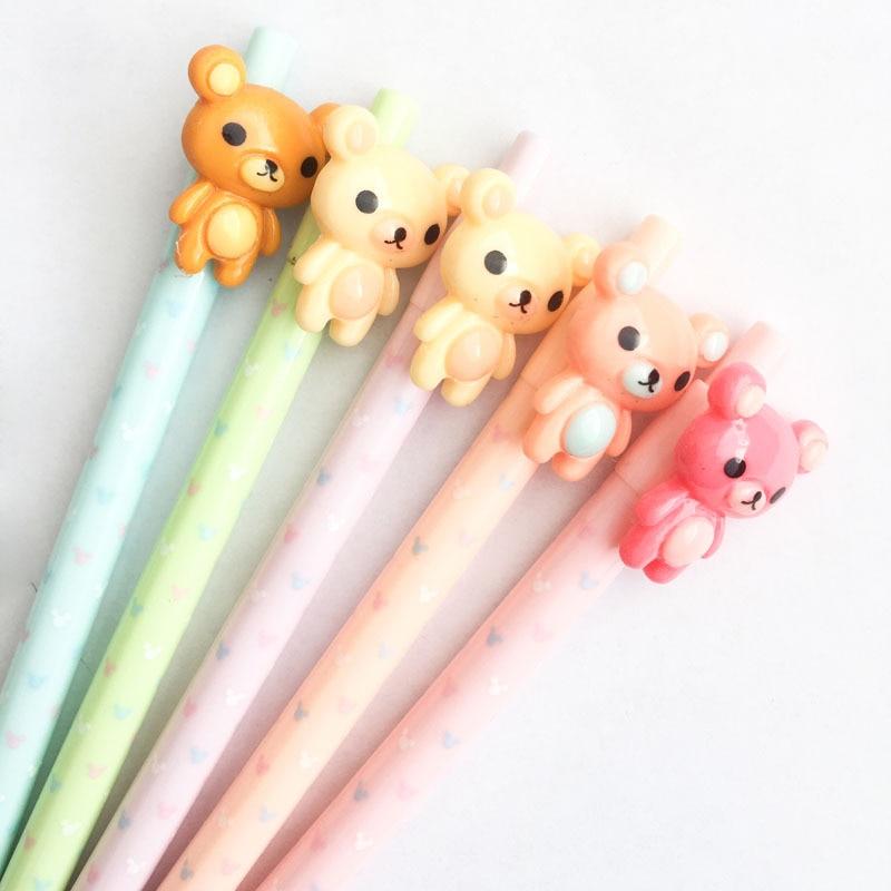 Lovely Bear Rilakkuma Plastic Mechanical Pencil Automatic Pen For Kid School Office Supply Escolar Papelaria