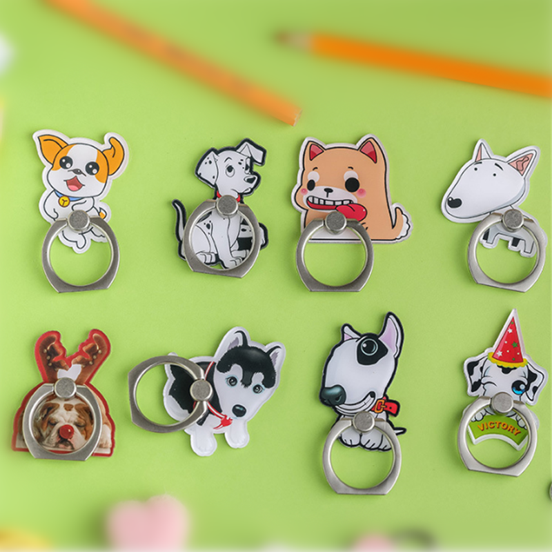 UVR Dog Mobile Phone Stand Holder Husky Dog Finger Ring Smartphone Dalmatians Holder Stand For IPhone Xiaomi Huawei All Phone#