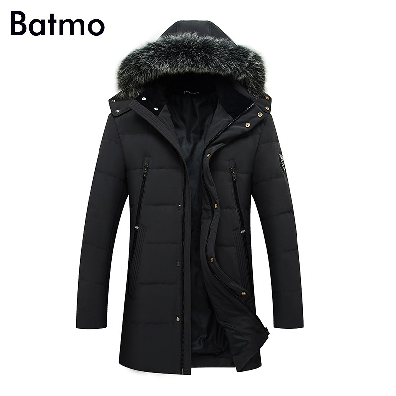 Batmo 2017 new arrival winter high quality white duck down jacket men,winter mens coat ,plus-size M,L,XL,XXL,XXXL 6075