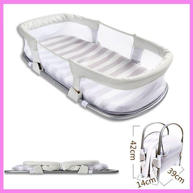 Портативный путешествия детские кроватки спальный мешок москитная сетка коврик складной кровати кроватка новорожденного забор Коляски Baby
