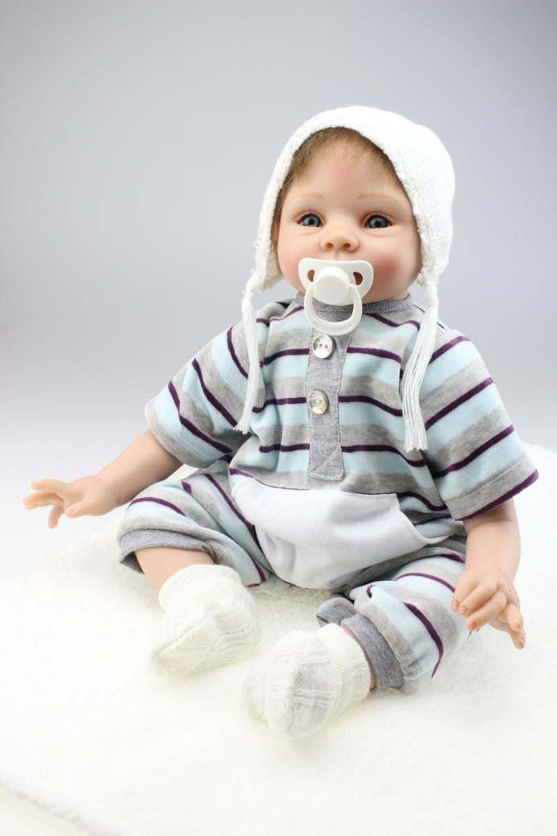 55cm New Simulation Silicone Reborn Baby Doll Toys Handmade Baby Home Doll Toys The Birthday Gift Play House small home appliance mixer simulation play toys