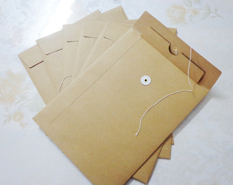 Blank kraft envelopes documents bag a4 letter size book for Letter paper size in inches
