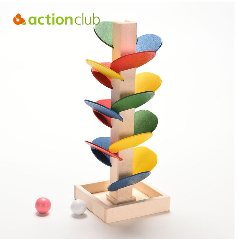 3D Model Wooden Tree Toys Puzzle Toy Marble Ball Run Track Game Baby Kids Children Intelligence Educational Toy HT3210 english alphabet jigsaw kids wooden educational toys for children baby intelligence joueie pour enfants toys toy 3d puzzle
