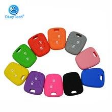 OkeyTech силиконовый чехол для ключей чехол для peugeot 206 307 207 408 для Citroen C2 C3 C4 для Toyota Aygo 2 кнопки очень хорошее качество